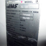 Used Haas Lathe CNC SL-20 - SN Tag